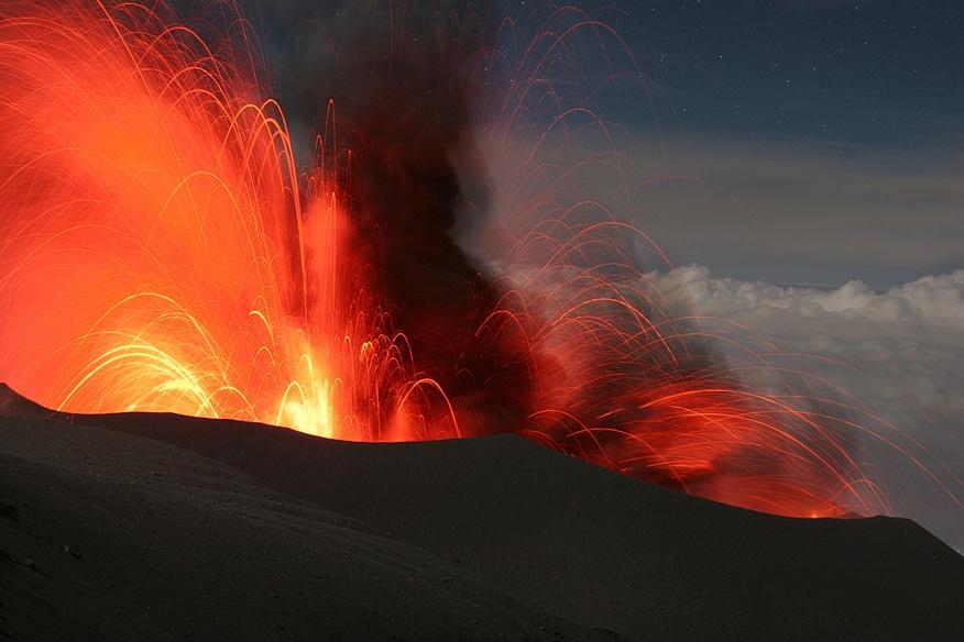 Vulkánkitörés - a természet csodája