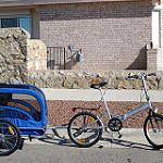 Kerékpár utánfutó az egész család örömére
